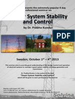 Power System Stability Sweden 20132