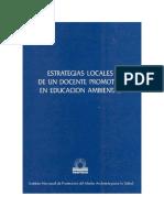 ESTRATEGIAS LOCALES DE UN DOCENTE PROMOTOR EN EDUCACION AMBIENTAL