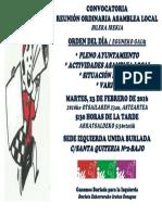 Convocatoria Asamblea Local (23-02-2016)