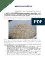 Recetas Astringentes Para La Diarrea