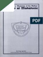SKP0800 - Mysteries of the Mythos - Murder at Miskatonic