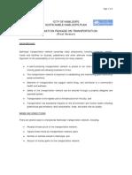 Sustainable Kamloops Plan - Transportation Info Package
