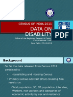 Disability 2011 Data Release Dec 2013 PPT (27.12.13)