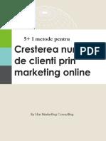 5+1 metode de a atrage clienti prin marketing online