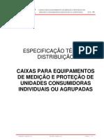 ETD 06 Caixas Equipamentos de Medição e Proteção