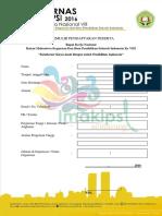 Formulir Pendaftaran Peserta Rakernas Imakipsi VIII_Semarang