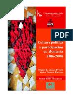 Libro Análisis de La Cultura Política en Monteria