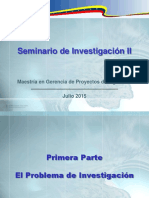 Entrega 1. El Problema de Investigación y Estructuración Del Marco Teórico - MGPI -UNEFM- 2015