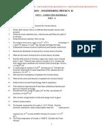 QUESTION BANK FOR PHYSICS - II REGULATION 2013
