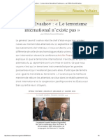 Général Ivashov _ « Le Terrorisme International n'Existe Pas », Par Général Leonid Ivashov