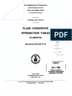 State Plane Coordinate Tables, MA