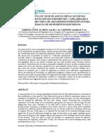 A influência do teor da adição metacaulim nas propriedades no estado endurecedor