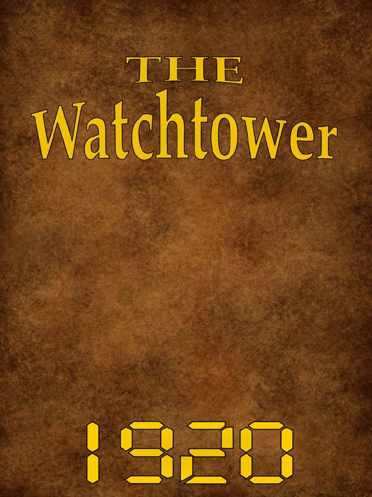 The Watch Tower - 1920 issues | Grace In Christianity | Religious ...