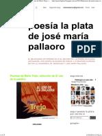 POESÍA LA PLATA de José María Pallaoro_ Poemas de Mario Trejo, Selección de El Uso de La Palabra
