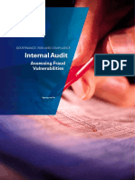 assessing fraud vulnerability by internal audit