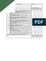 Piping Arrangement Checklist