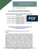 Influência da adição de metacaulim nas propriedades de argamassa inorgânicas