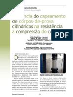 Influência do capeamento de corpos-de-prova cilíndricos na resistência à compressão do concreto