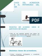 PPT Derechos Del Acreedor Sobre La Patrimonio Deudor