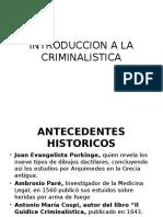 2016 - Pp - Introduccion a La Criminalistica