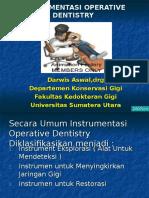 Instrumentasi Operative Dentistry