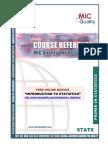 Guide to Six Sigma Statistics