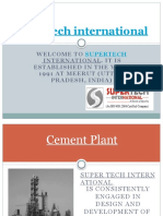 Supertech Provided of Cement Plant