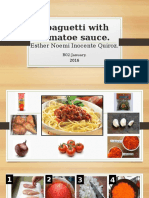 Spaguetti With Tomatoe Sauce-BO2 Esther Inocente Quiroz