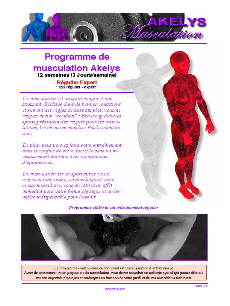 programme musculation akelys