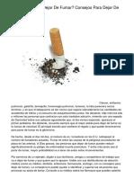 ►¿De qué manera Dejar De Fumar? Consejos Para Dejar De Fumar