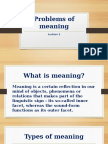problems of meaning
