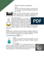 Material de Laboratorio VIDRIO, PORCELANA Y PLASTICO