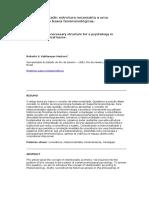 Intencionalidade Estrutura Necessária a Uma Psicologia Em Bases Fenomenológicas