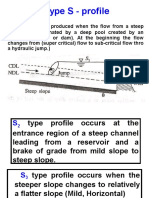 Type S - Profile for water surface profiles