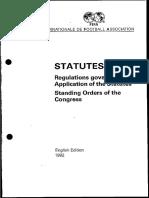 FIFA Statutes - 1992