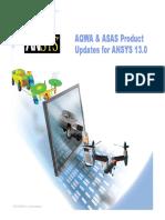 新版本ansys中更新的 Aqwa 与 Asas 产品 (英文讲义)