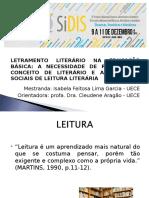 LETRAMENTO LITERÁRIO NA EDUCAÇÃO BÁSICA