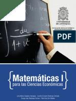 Matemáticas I Para Las Ciencias Económicas