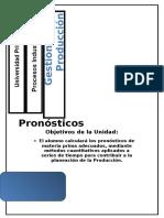 Ejercicios de Pronosticos