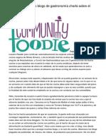 Uno de los mejores blogs de gastronomía charla sobre el jamón ibérico