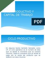 Ciclo Productivo y Capital de Trabajo