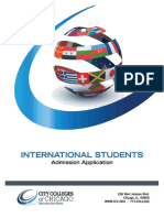 International Student Admission Application