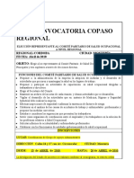 Convocatoria Copaso Regional Final