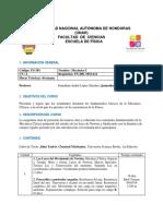 Hoja de Información - FS-381 Mecánica I