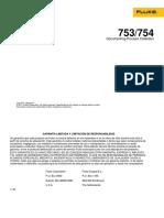 Fluke 753-754 Manual