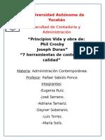 10 Pasos de Joseph Juran y 14 de Crosby