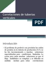 correlaciones de tuberias vertical