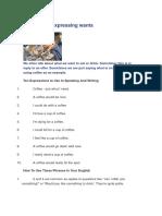 Ten Ways of Expressing Wants
