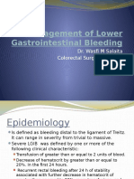 Management of Lower Gastrointestinal Bleeding- Light BG