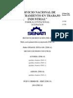 Estructura de Proyecto de Innovacion SENATI.